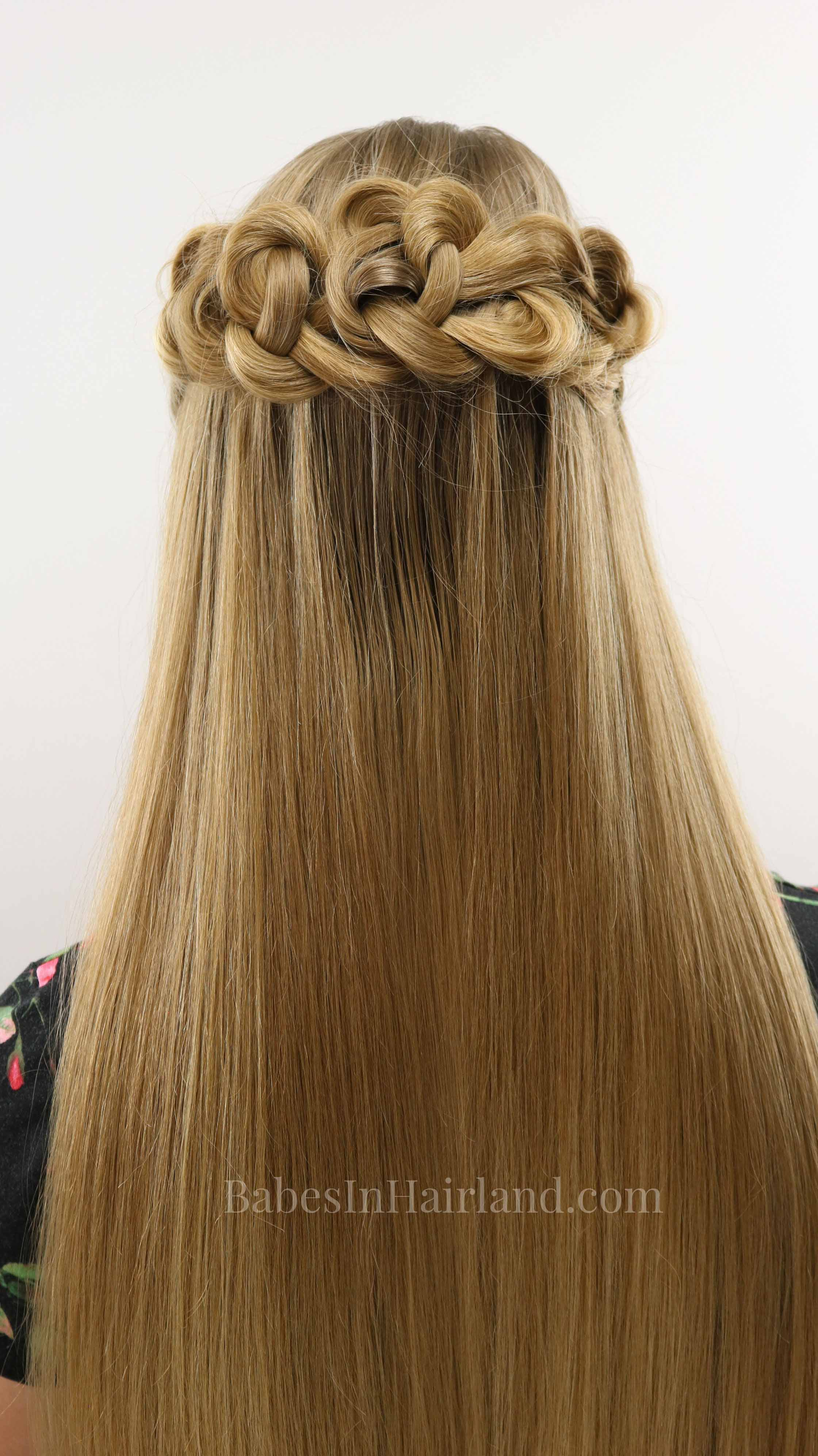 Half Up Daisy Chains Hairstyle Easy Amp Elegant Prom Or