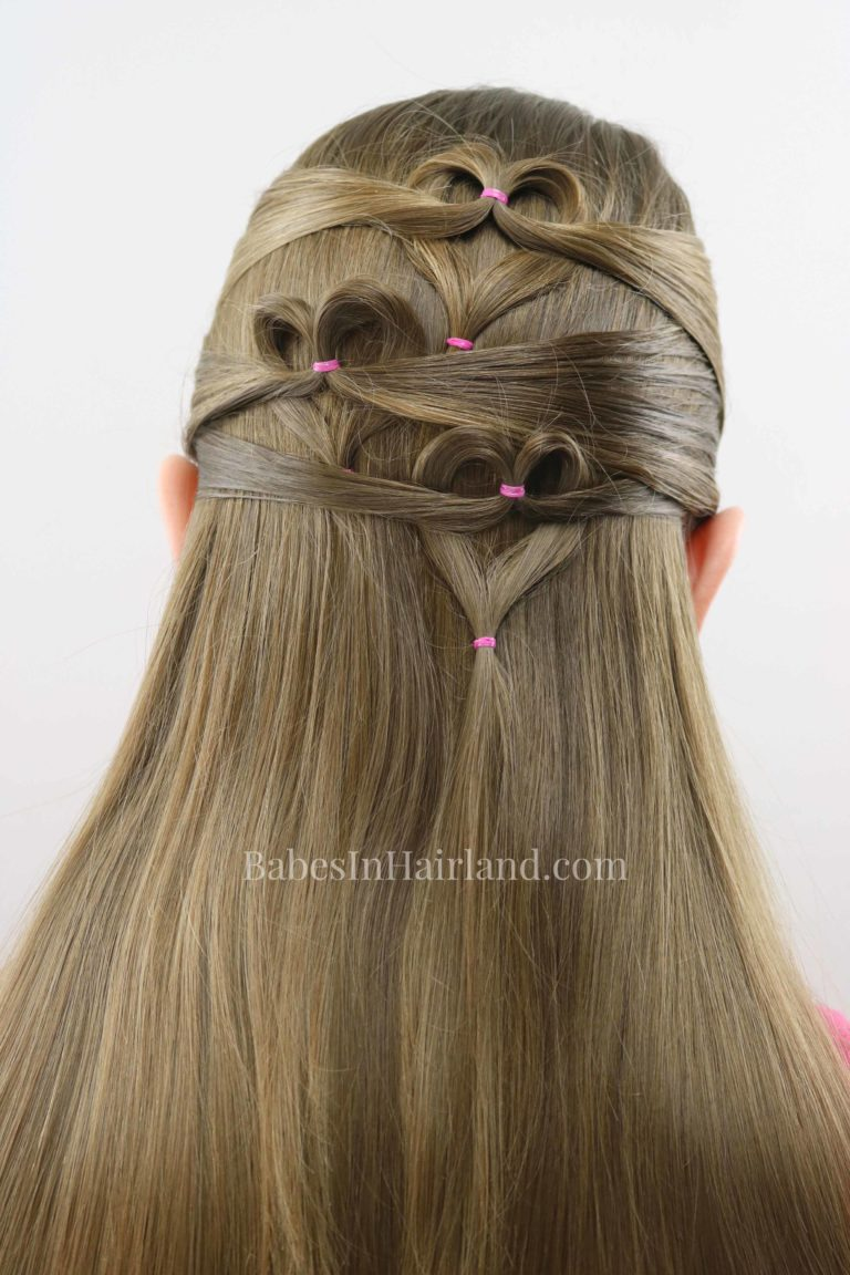 Need a cute Valentine's Day heart hairstyle but don't have much time? Try this quick and easy ...