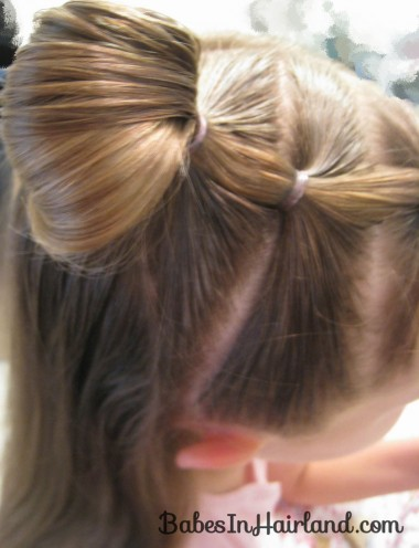 Quick Half Up Ponies & Messy Bun (4)