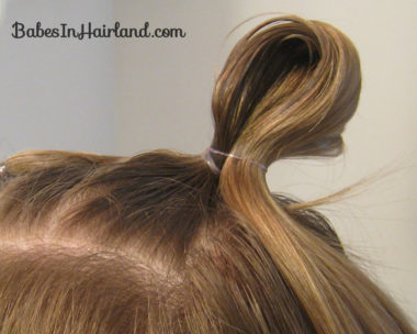 Quick Half Up Ponies & Messy Bun (5)