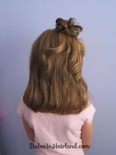Quick Half Up Ponies & Messy Bun (7)
