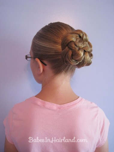 Double Braided Bun for Shorter Hair from BabesInHairland.com (4)