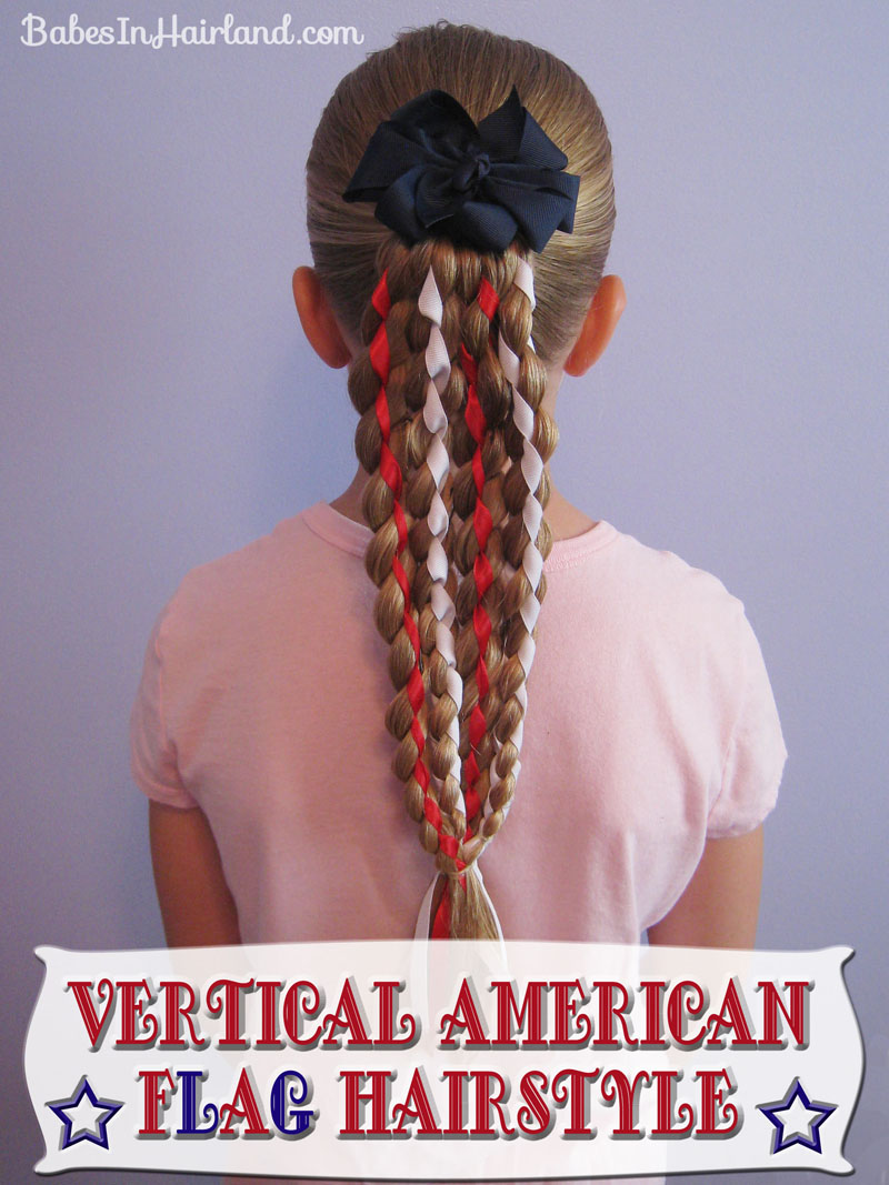 Vertical American Flag Hairstyle (1)