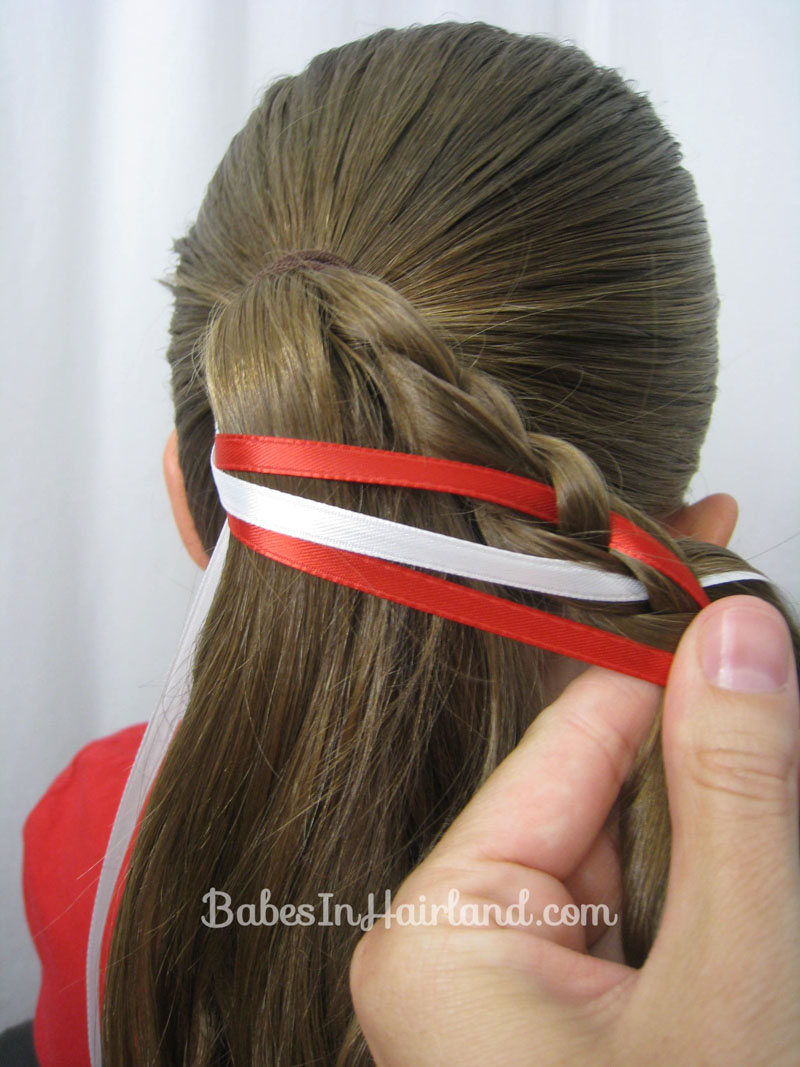 Steps to do a Ladder Braid Step 9 – Secure Braid