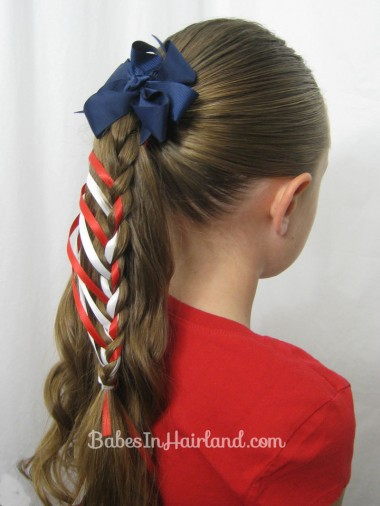 Patriotic Ladder Braid from BabesInHairland.com (15)