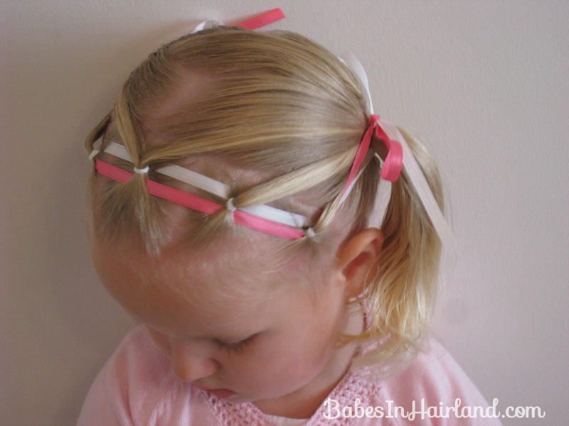 popular little girl haircuts ponies amp ribbon headband in hairland 5670 | IMG 1171B