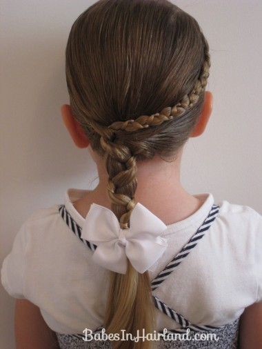 Uneven Accent Braid into an Uneven Side Braid | Babes In