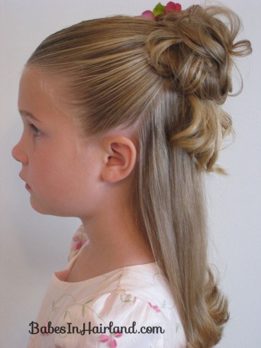 hair style ombre half up bun in hairland 1190