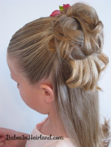 Half Up Messy Bun (3)