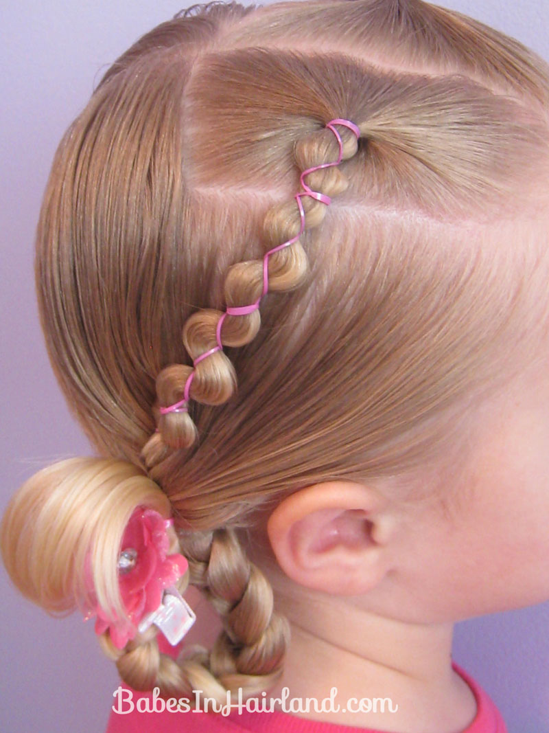 Rubber Band Wraps & Flipped Braids - Babes In Hairland