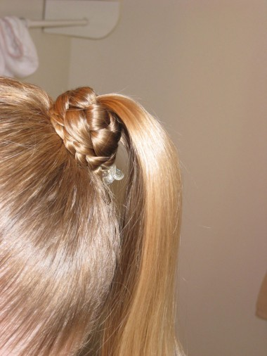2 Wrapped Ponytails Madonna Style Babes In Hairland