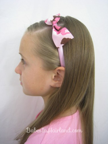 2 Minute No Sew Ribbon Bows from BabesInHairland.com