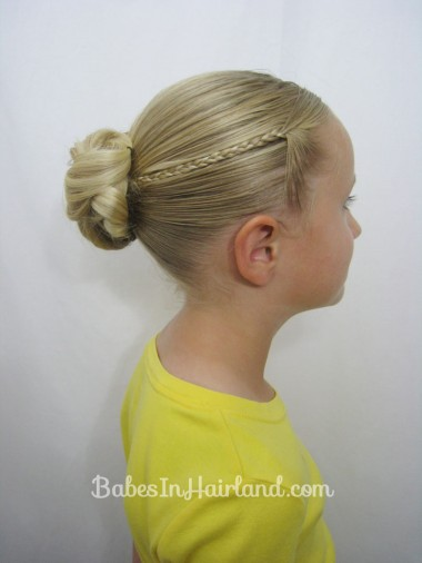 Knotted Bun & Micro Braids from BabesInHairland.com