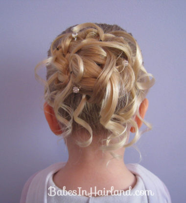Cascading Feather Braided Updo from BabesInHairland.com