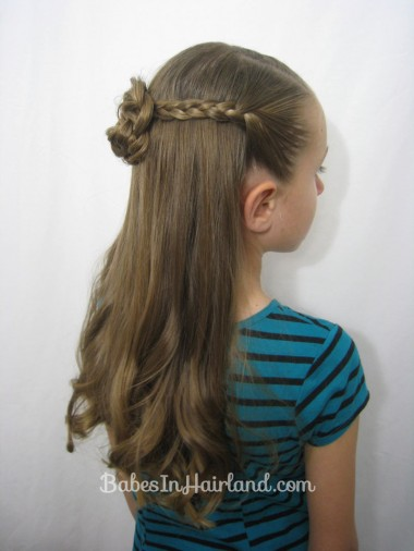Braided Pullback & Flower Bun from BabesInHairland.com