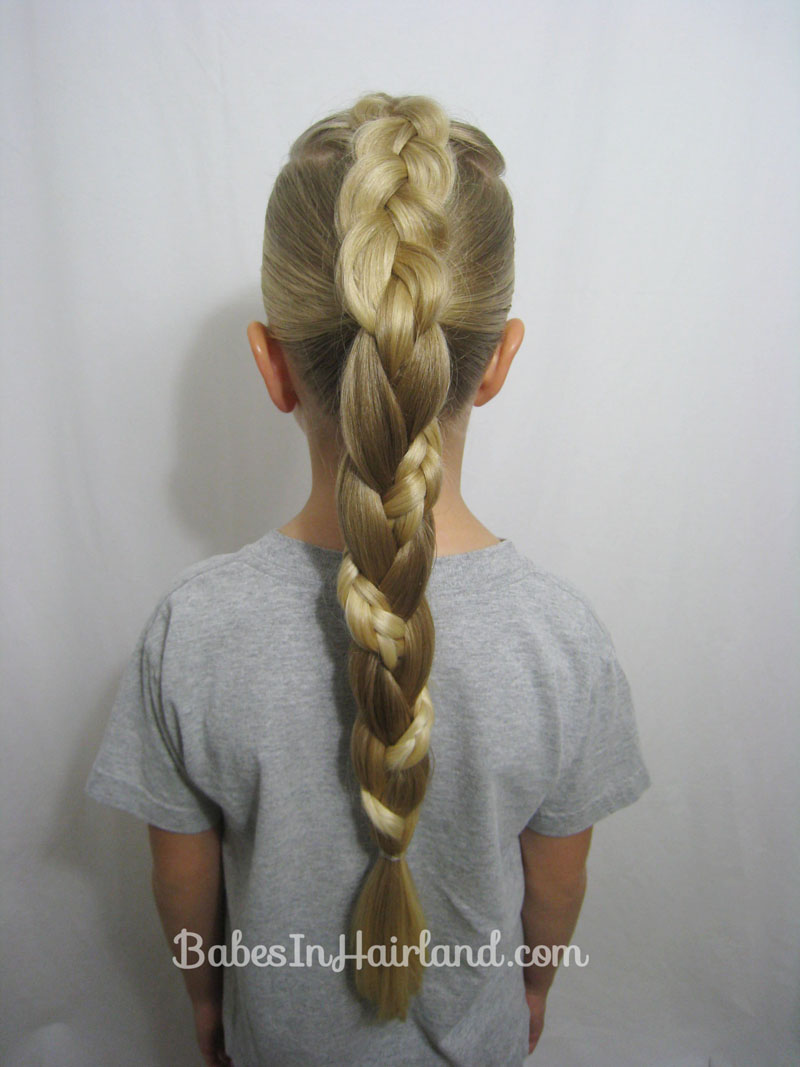 Wondrous French Braid To A Braided Ponytail Video Babes In Hairland Short Hairstyles Gunalazisus