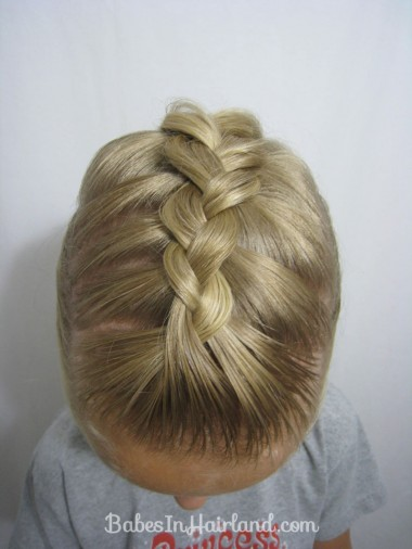 French Braid into a Braided Ponytail - BabesInHairland.com