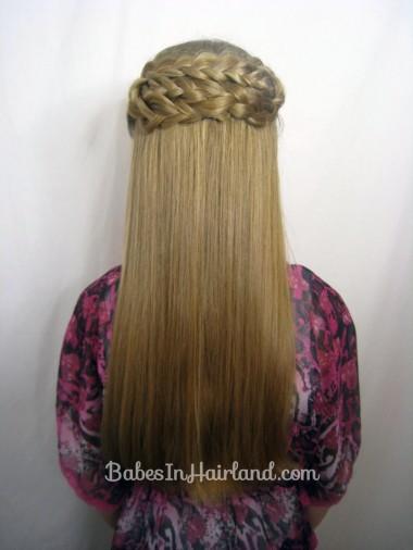Half French Braid Wrap | BabesInHairland.com