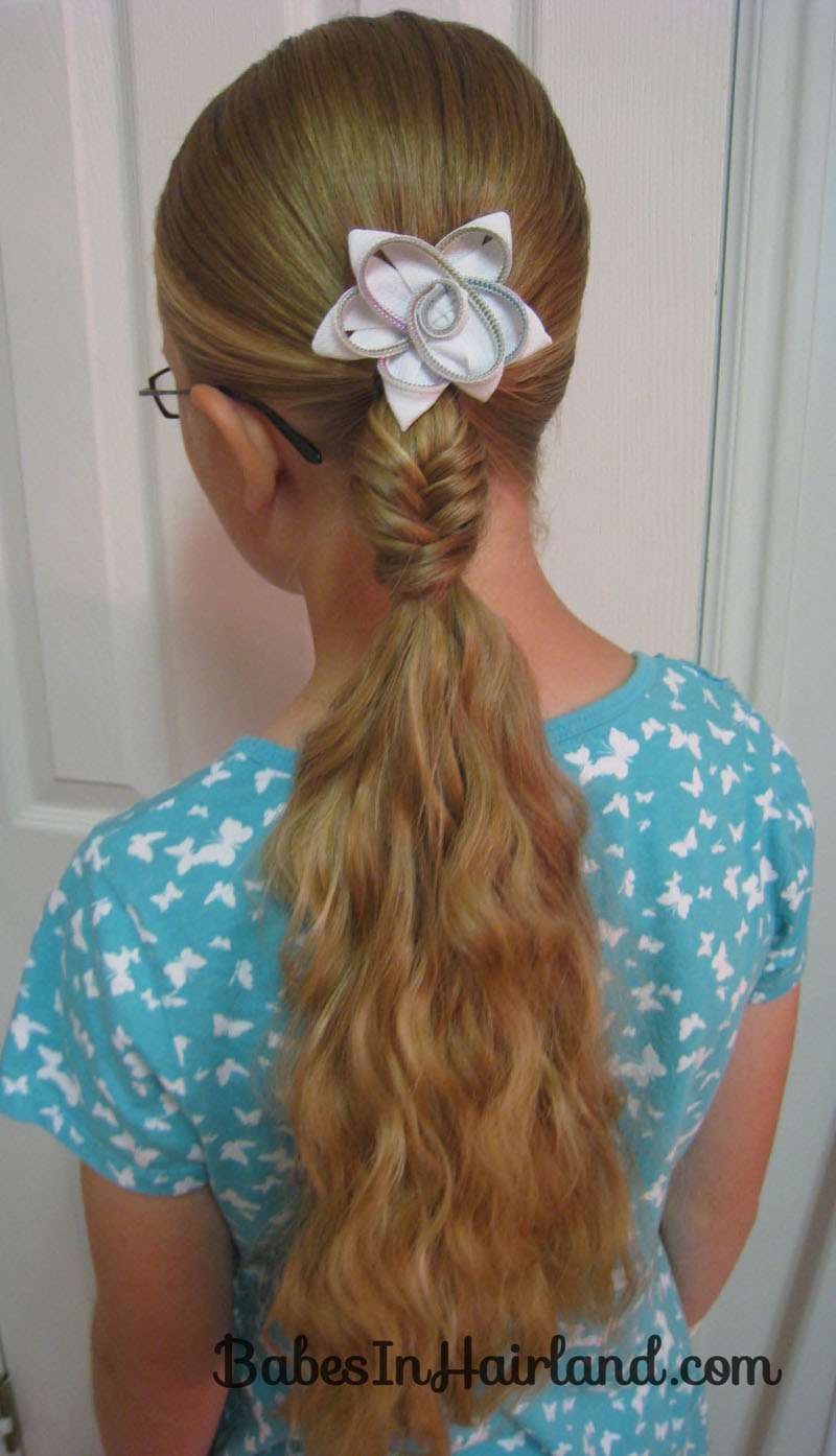 Peachy Fishbone Braided Ponytail Amp A Tip Babes In Hairland Hairstyles For Men Maxibearus