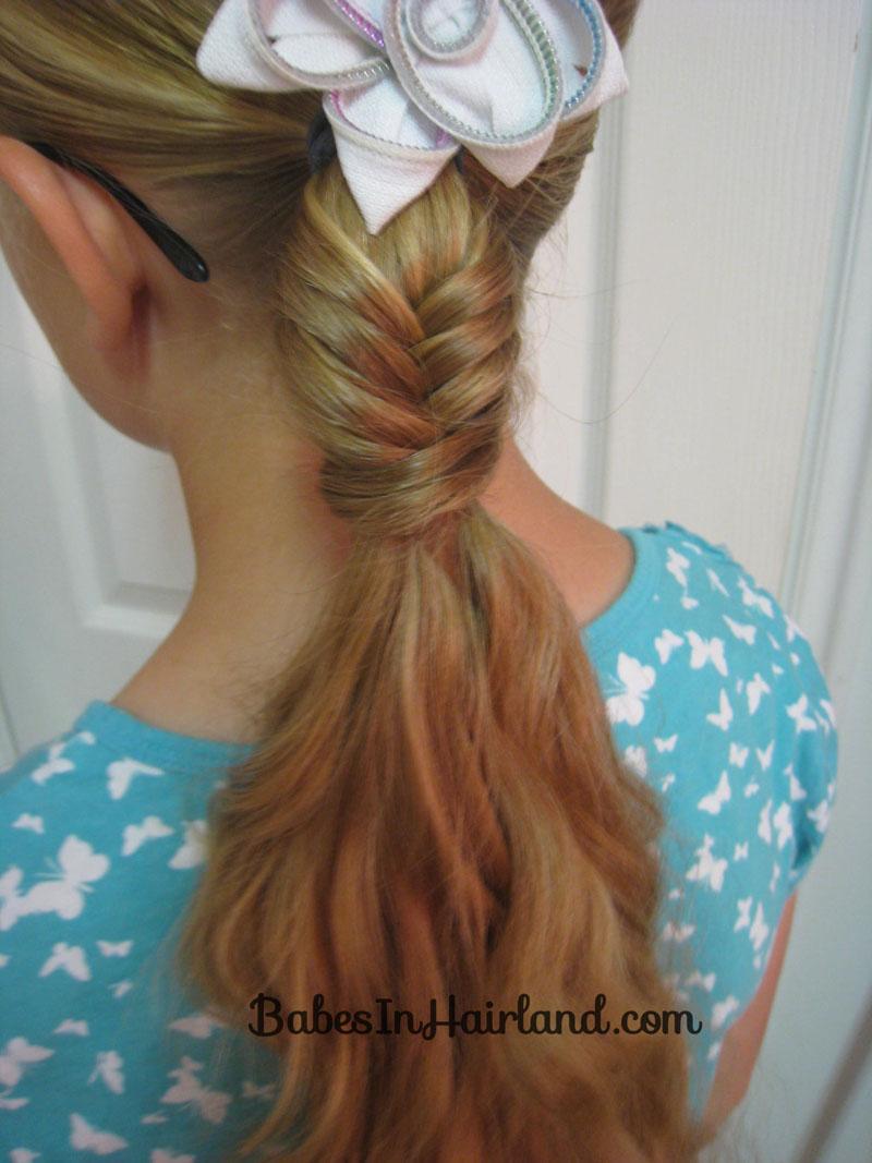 Awe Inspiring Fishbone Braided Ponytail Amp A Tip Babes In Hairland Hairstyles For Men Maxibearus