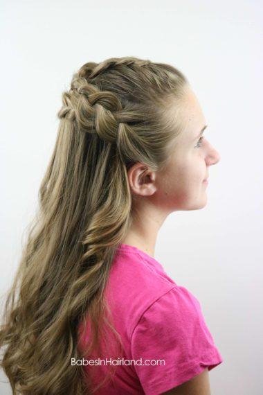 Half Up Braided Style from BabesInHairland.com #Frenchbraids #Dutchbraid #braids #hair #hairstyle