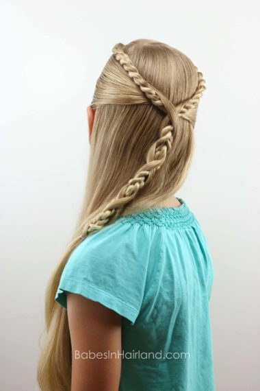 Rope Twist Hawser Braid Pullback from BabesInHairland.com #hair #hairstyle #ropetwists #hawsertwist