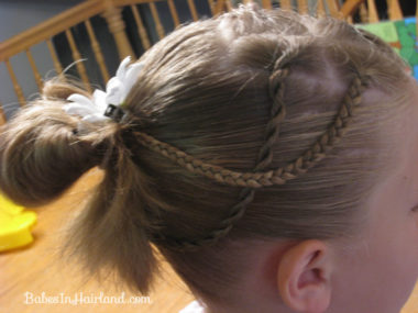 Messy Bun and Accent Braids (7)