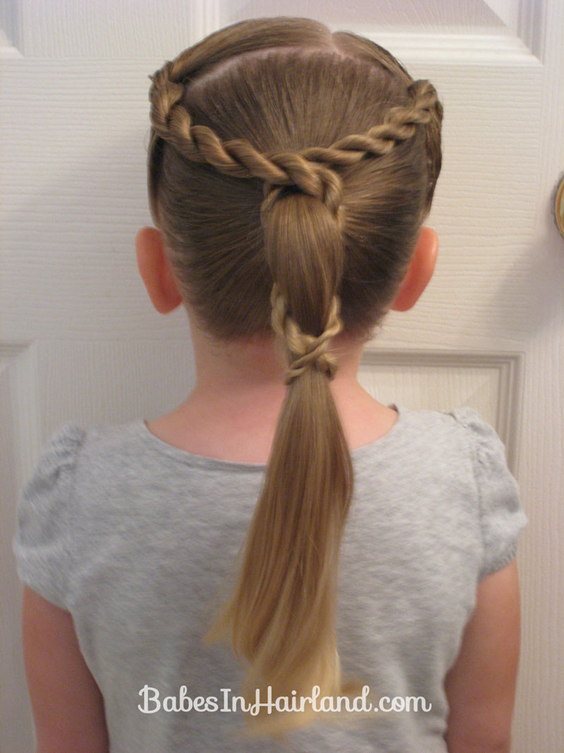 Rope Braid Wrapped Ponytail Babes In Hairland