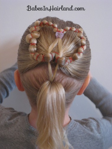 Heart wreath hairstyle