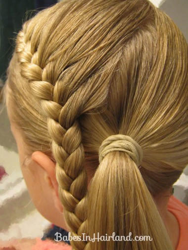 Lauren Conrad Inspired - Half French Braid Wrapped Ponytail (11)