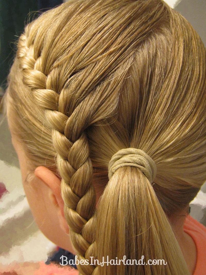 Pleasant Lauren Conrad Inspired Half French Braid Wrapped Ponytail Short Hairstyles For Black Women Fulllsitofus