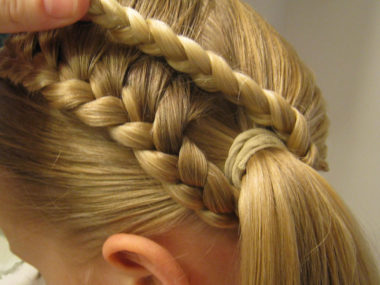 Lauren Conrad Inspired - Half French Braid Wrapped Ponytail (12)