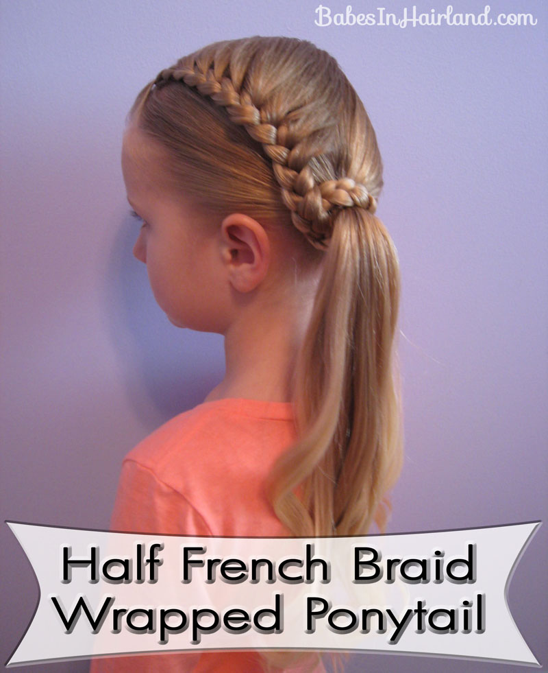 Lauren Conrad Inspired - Half French Braid Wrapped Ponytail (1)