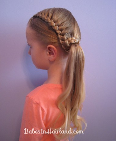 Lauren Conrad Inspired - Half French Braid Wrapped Ponytail (19)