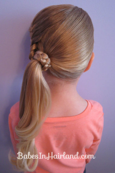 Lauren Conrad Inspired - Half French Braid Wrapped Ponytail (16)