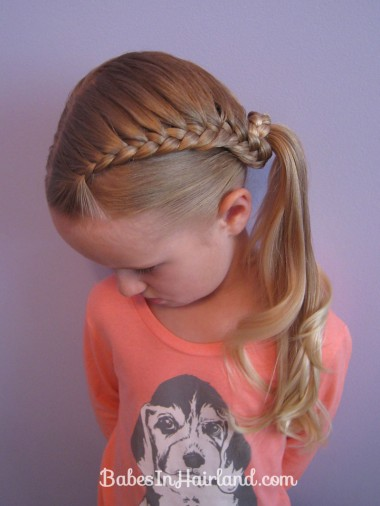 Lauren Conrad Inspired - Half French Braid Wrapped Ponytail (18)
