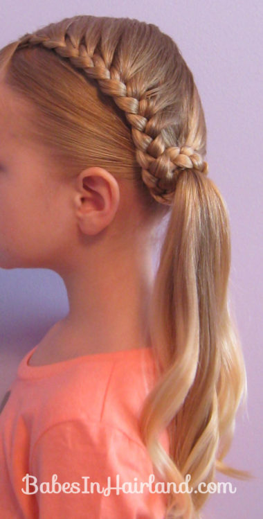 Lauren Conrad Inspired - Half French Braid Wrapped Ponytail (17)