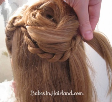 Twisted Flower Girl Hairstyle (6)