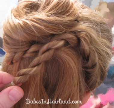 Twisted Flower Girl Hairstyle (8)