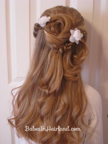 Twisted Flower Girl Hairstyle (13)
