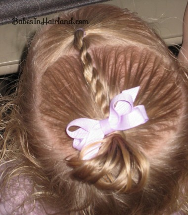 Baby Rope/Twist Braid into Baby Pony (7)
