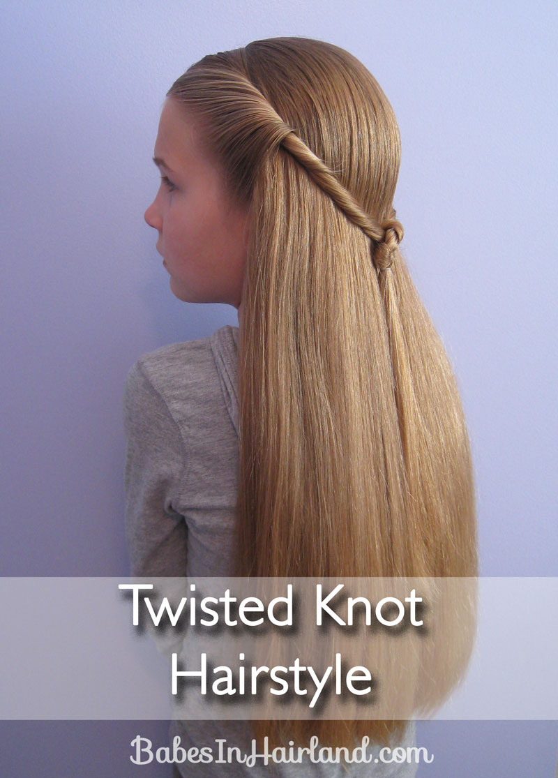 Twisted Knot Hairstyle | Teen Hairstyles | Babes In Hairland