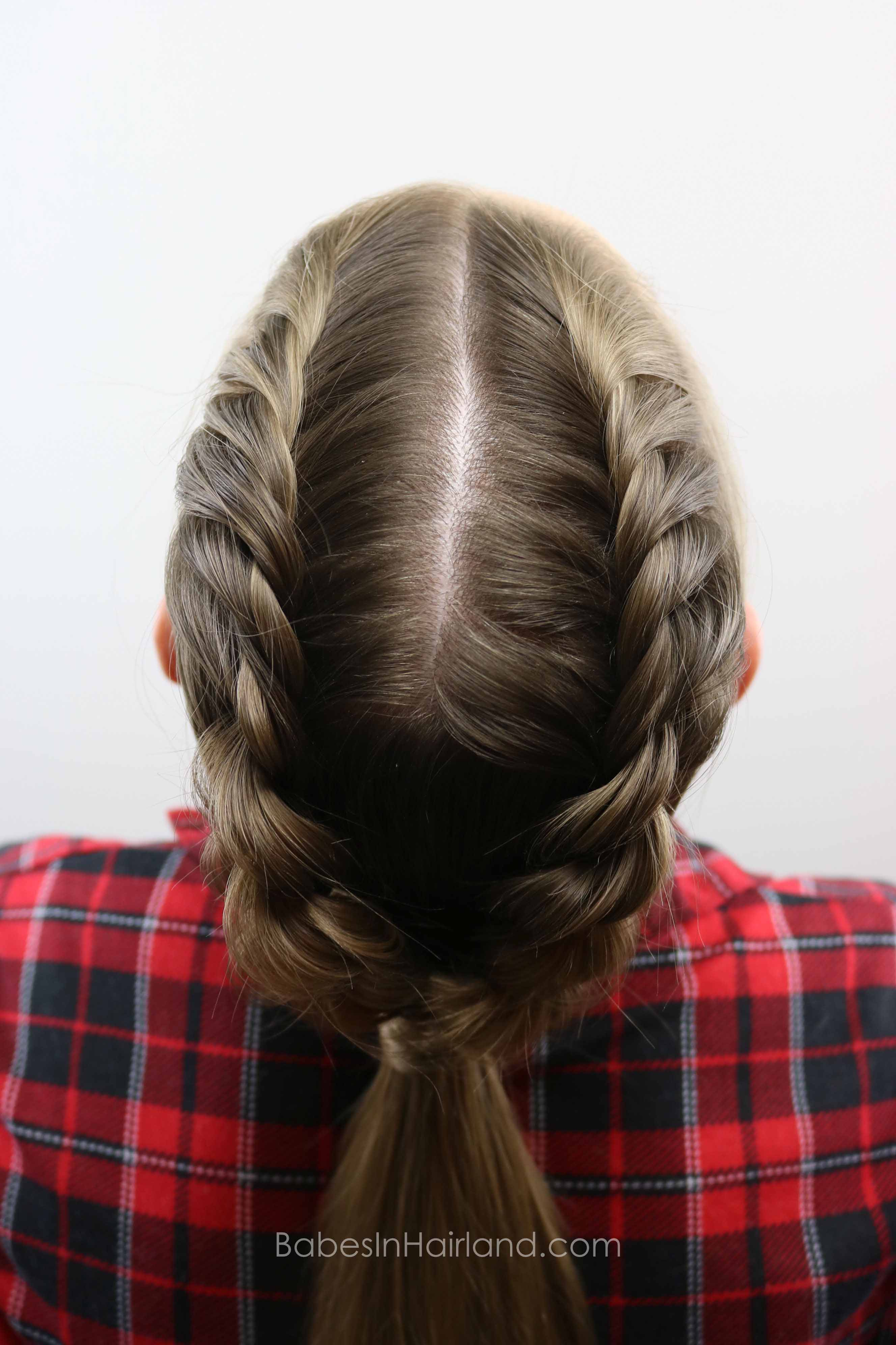 French Twists into a Ponytail from BabesInHairland.com #twists #hair #ponytail #hairstyle # ...