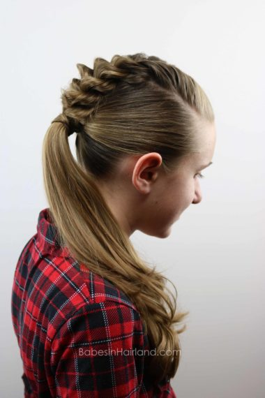 French Twists into a Ponytail from BabesInHairland.com #twists #hair #ponytail #hairstyle #frenchtwists