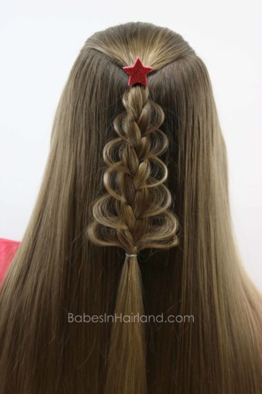 Christmas Tree Loop Braid Babes In Hairland