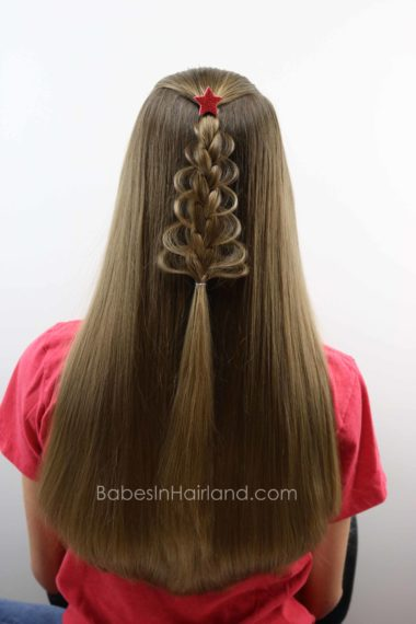 Christmas Tree Loop Braid from BabesInHairland.com | Christmas | hair | Braid | Christmas Tree | Hairstyle