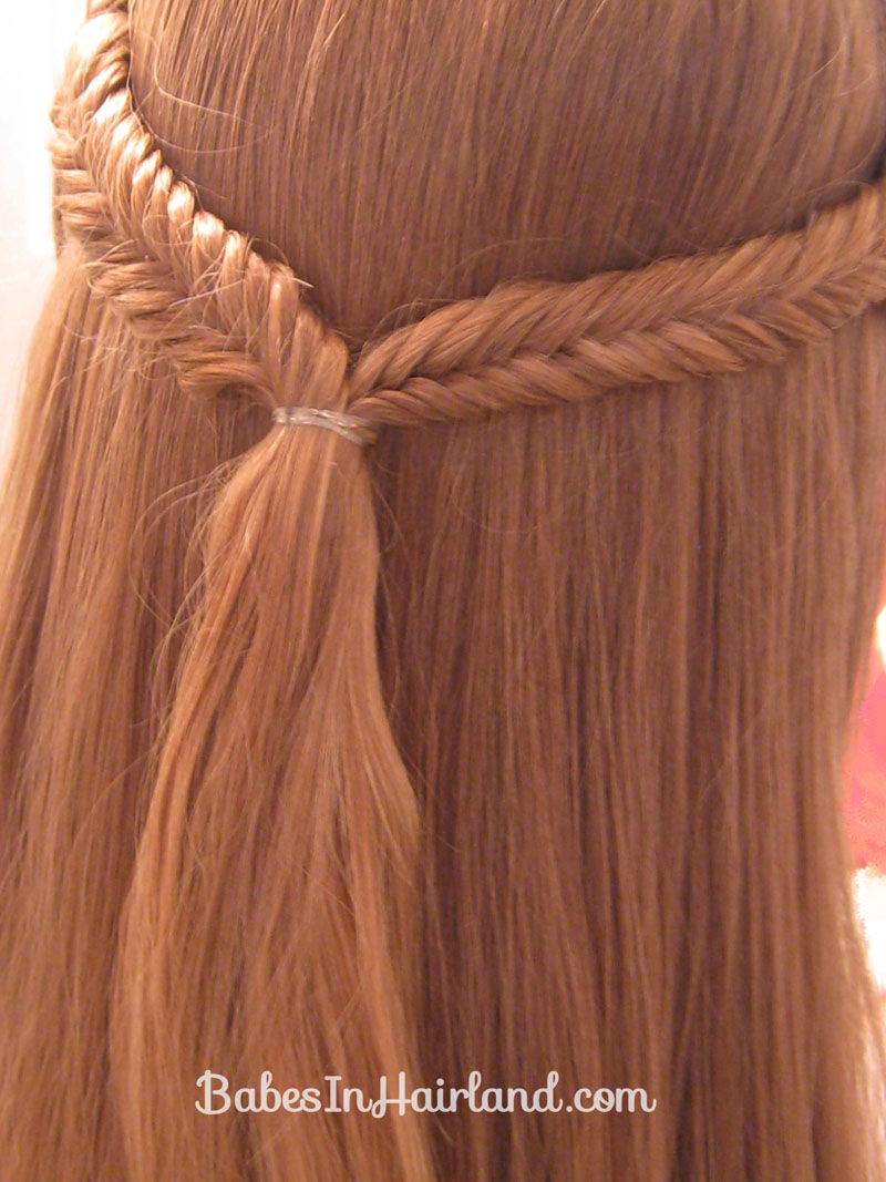 Simple Pulled Back Fishbone Braids Babes In Hairland