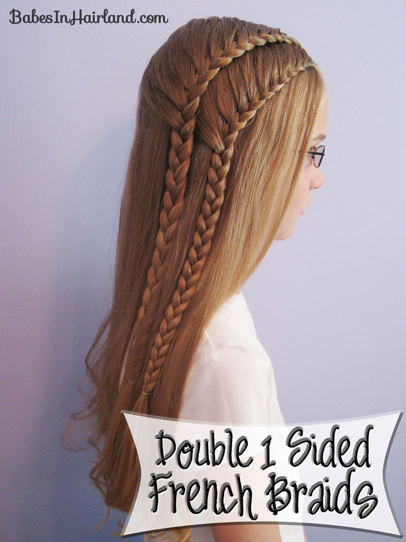 Remarkable Double 1 Sided French Braids Babes In Hairland Short Hairstyles For Black Women Fulllsitofus