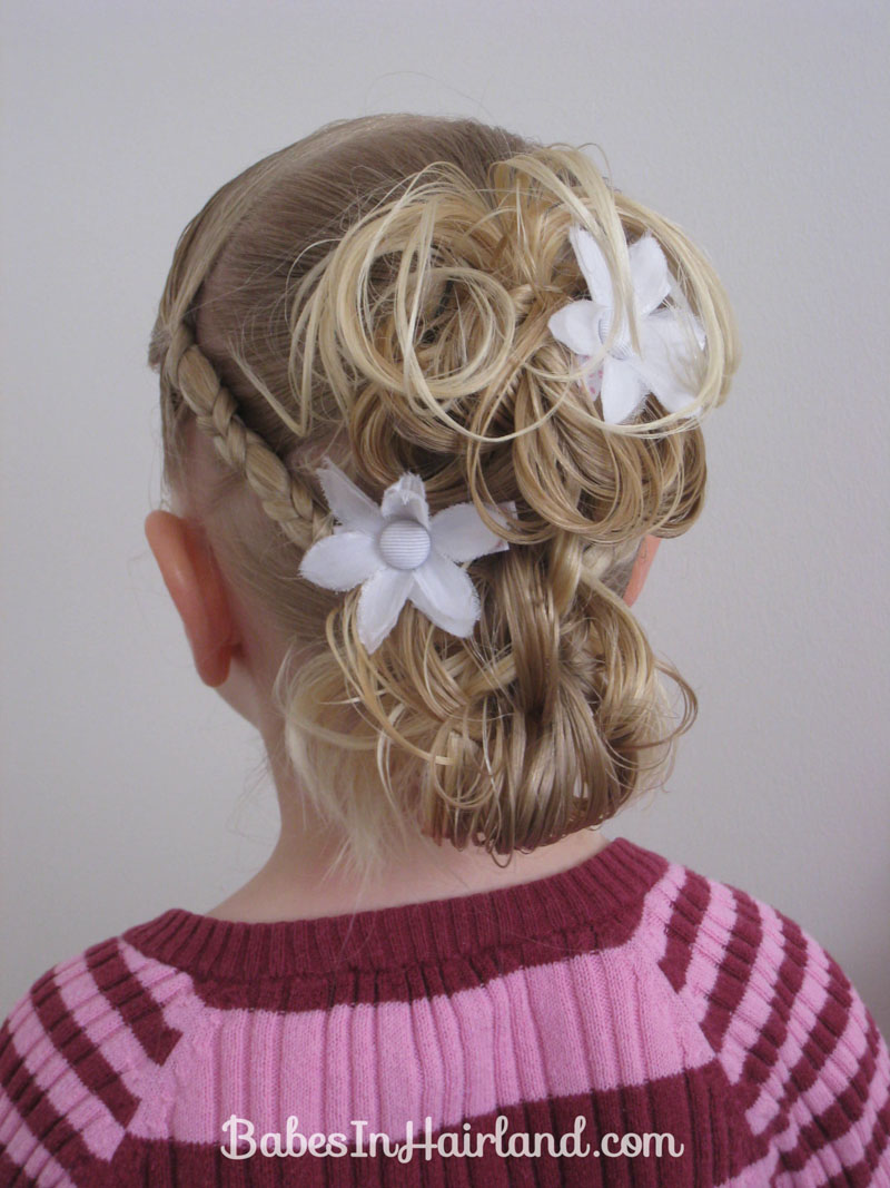 Flower Girl Hairstyle Babes In Hairland