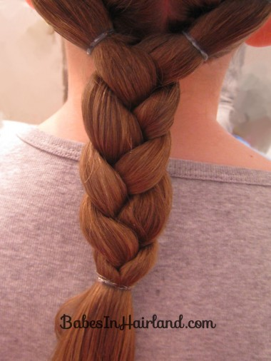 Puffy Braids into a Braid (4)